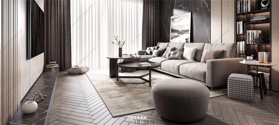 179 Modern Living Room Smax File Free