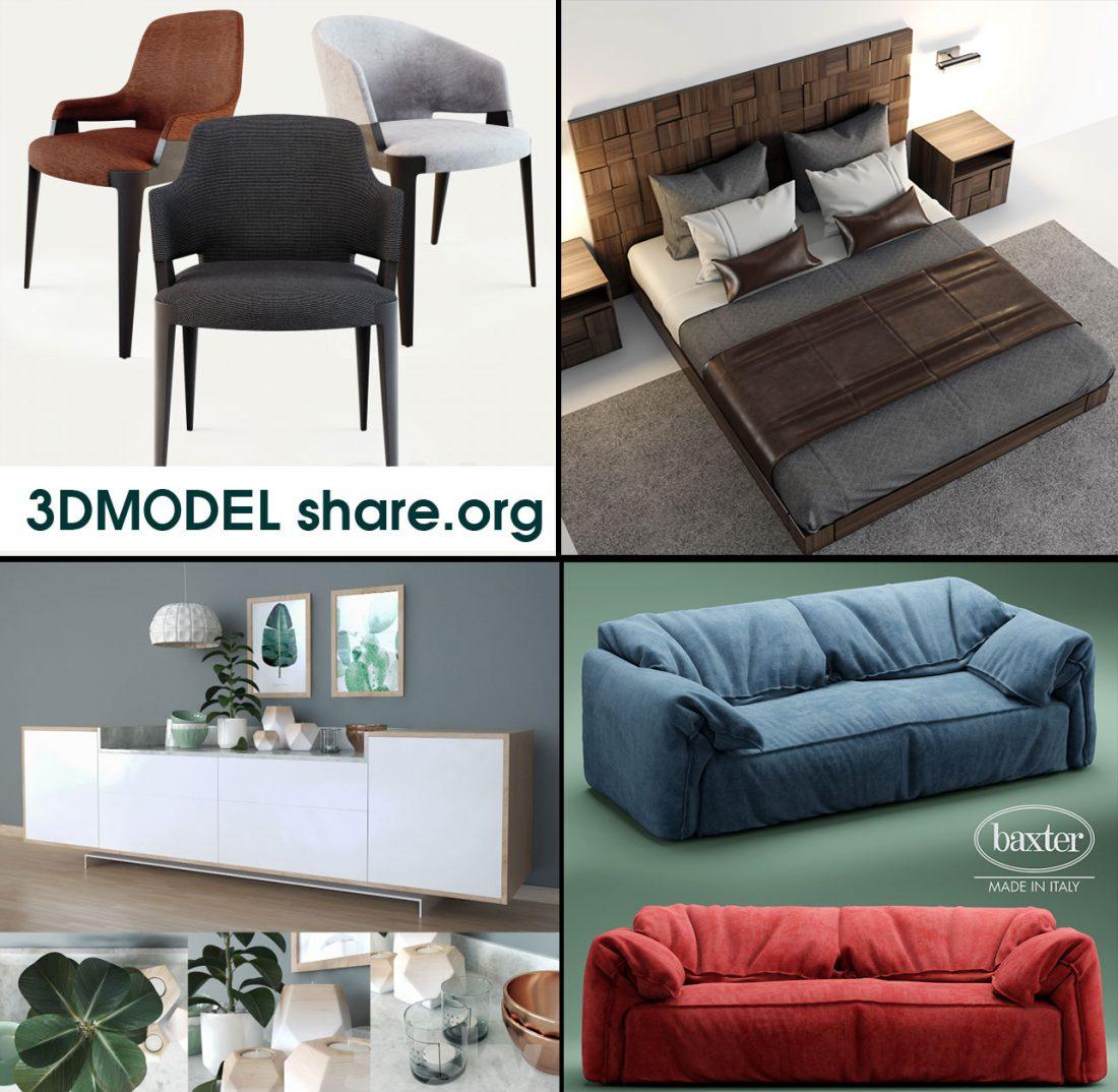 Free Download 3d Models 3dmodel Furniture Decor Scenes 3dsmax File
