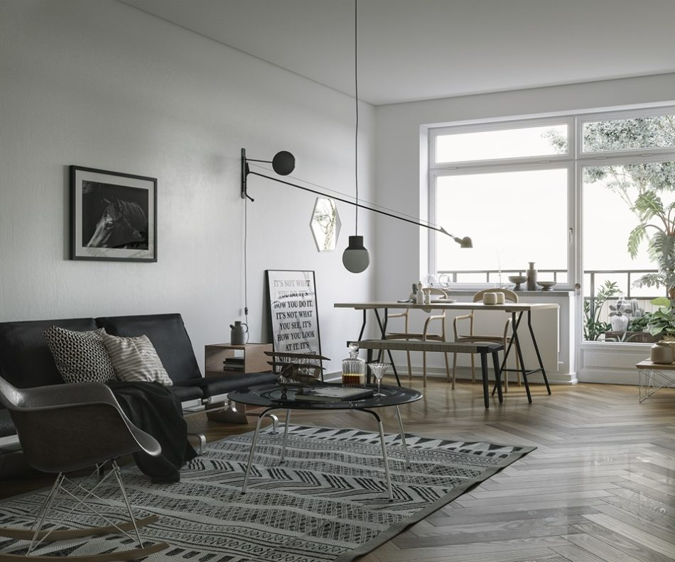371 White Apartment Scenes 3dsmax File Free Download by