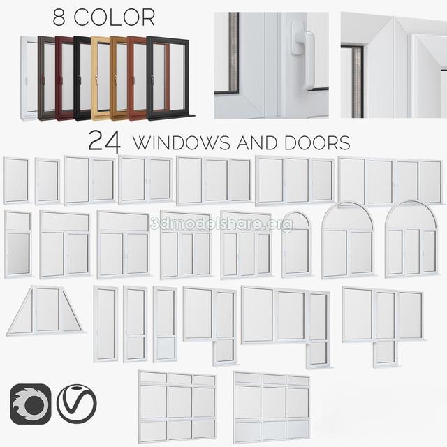 565windows Pvc Doors 3dsmax File Free Download Free